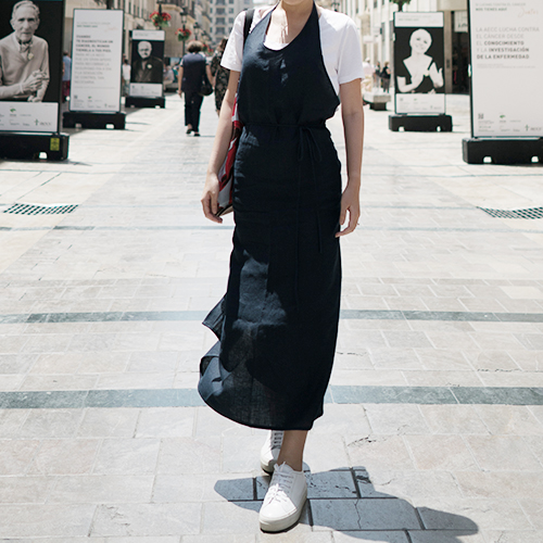[LINEN 003] WRAP APRON DRESS (2 Colors)