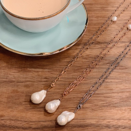 Whimsical Pearl Necklace